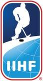 Eis-Hockey-Vereinigungslogo IIHF internationales Lizenzfreie Stockbilder