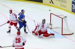 Eis-Hockey-Weltmeisterschaft 2017 Div. 1 in Kiew, Ukraine Stockbilder