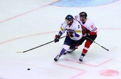 Eis-Hockey-Weltmeisterschaft 2017 Div. 1 in Kiew, Ukraine Lizenzfreie Stockfotografie