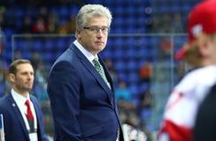 Eis-Hockey-Weltmeisterschaft 2017 Div. 1 in Kyiv, Ukraine Lizenzfreie Stockfotos