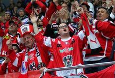 Eis-Hockey-Weltmeisterschaft 2017 Div. 1 in Kyiv, Ukraine Lizenzfreies Stockbild