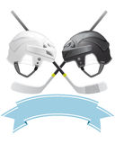 Eis-Hockeyemblem Stockfoto