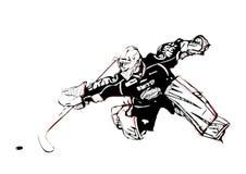 Eis-Hockeytorhüter stock abbildung