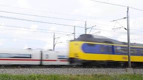 EIS hohe Geschwindigkeit Trai stock video footage