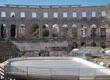 Eis im Amphitheater Lizenzfreie Stockfotografie