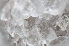 Eis im Detail als Hintergrund Stockfotos