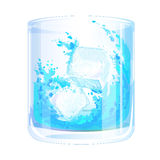 Eis im Glas Lizenzfreies Stockfoto