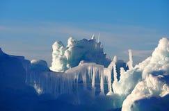 Eis im Winter Stockfotografie