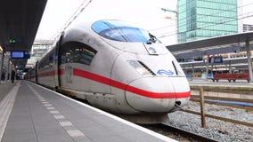 EIS Intercity-Eilhochgeschwindigkeitszug stock video footage