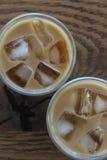 Eis-Kaffee in den Gläsern Stockfoto
