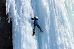 Eis-Klettern stockfoto