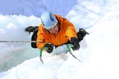 Eis-Klettern lizenzfreie abbildung