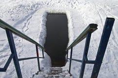 Eis-Loch Stockfotografie