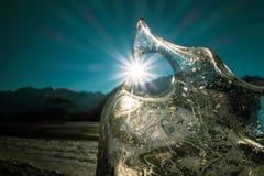 Eis mit Sonnendurchbruch Lizenzfreies Stockbild