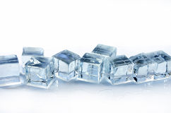 Eis. Picture of some slowly melting ice cubes Royalty Free Stock Photo