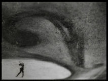 Eis-Schlittschuhläufer Lizenzfreie Stockfotografie