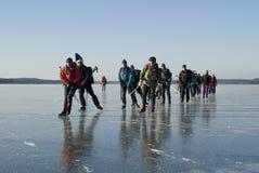 Eis-Schlittschuhläufer Stockbilder