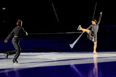 Eis-Schlittschuhläufer Margarita Drobiazko u. Povilas Vanagas Stockfotografie