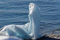 Eis-Skulptur eines Drachen Stockbild