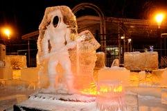 Eis-Skulptur eines Drachen Lizenzfreies Stockfoto