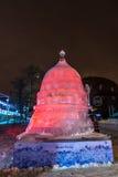 Eis-Skulptur eines Drachen Das Mudeum von RosTech stockfotografie
