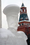 Eis-Skulpturausstellung auf dem Roten Platz Lizenzfreie Stockfotografie
