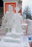 Eis-Skulpturausstellung auf dem Roten Platz Stockfotos