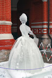 Eis-Skulpturausstellung auf dem Roten Platz Lizenzfreies Stockbild