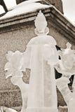 Eis-Skulpturausstellung auf dem Roten Platz Stockfotografie