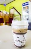 Eis-später Kaffee auf dem Tisch Stockbild