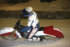 Eis-Speedway Stockbild