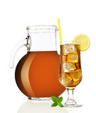 Eis-Tee mit Zitrone Stockfotografie