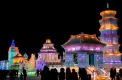 Eis- u. Schneewelt-Harbin-Porzellan Lizenzfreies Stockbild