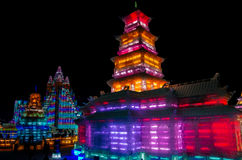 Eis- u. Schneewelt-Harbin-Porzellan Lizenzfreie Stockfotos