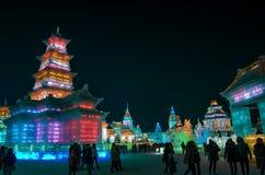 Eis- u. Schneewelt-Harbin-Porzellan Lizenzfreies Stockfoto