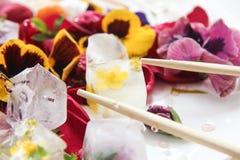 Eis und Blumen Lizenzfreie Stockbilder