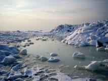 Eis und Schnee. Lizenzfreies Stockfoto