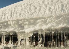 Eis und Schnee in der Sonne Stockbild