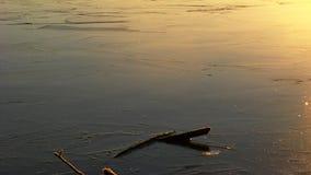 Eis und Sonnenaufgang Stockbild