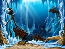 Eis Unterwasser lizenzfreie abbildung