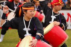Eisa in Varela Matsuri. Florencio Varela, Buenos Aires, Argentina - Sep 4, 2016: Eisa (Japanese dance with drums) in Varela Matsuri Stock Photo
