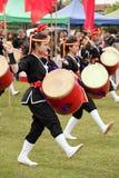 Eisa in Varela Matsuri. Florencio Varela, Buenos Aires, Argentina - Sep 4, 2016: Eisa (Japanese dance with drums) in Varela Matsuri Royalty Free Stock Photos