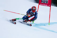 EISATH Florian in Audi Fis Alpine Skiing World-de Reus van Kopmen's Royalty-vrije Stock Foto