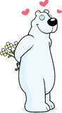 Eisbär in der Liebe Stockbild
