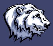 Eisbär-Maskottchen-Zeichen Stockbild