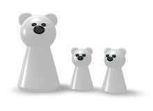 Eisbärfamilie Stockfotos