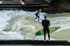 Eisbach Surfer Royalty Free Stock Photo