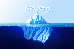 Eisberg im Ozean Lizenzfreies Stockfoto