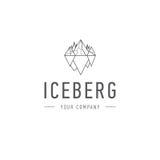 Eisbergdreieck der kalten Gebirgszusammenfassungsvektor- und Logodesign- oder -schablonenhügelgeschäftsikone der Firmenidentität Lizenzfreies Stockbild