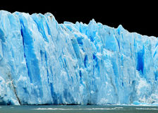 Eisberge getrennt auf Schwarzem Lizenzfreies Stockfoto